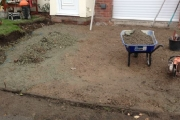 excavated for drive and edgings