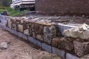 Stone work for car port
