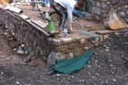 Retaining wall and stone work