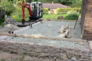 Forming base ready for concrete floor