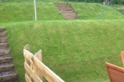 Turfed back and front of house