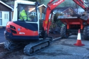 Excavation for drop kerbs