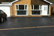 Finished driveway and drop kerbs